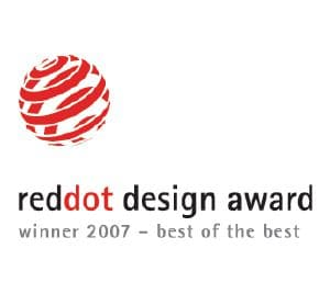 "Tento produkt byl oceněn Red Dot cenou za design ""Best of the Best""."